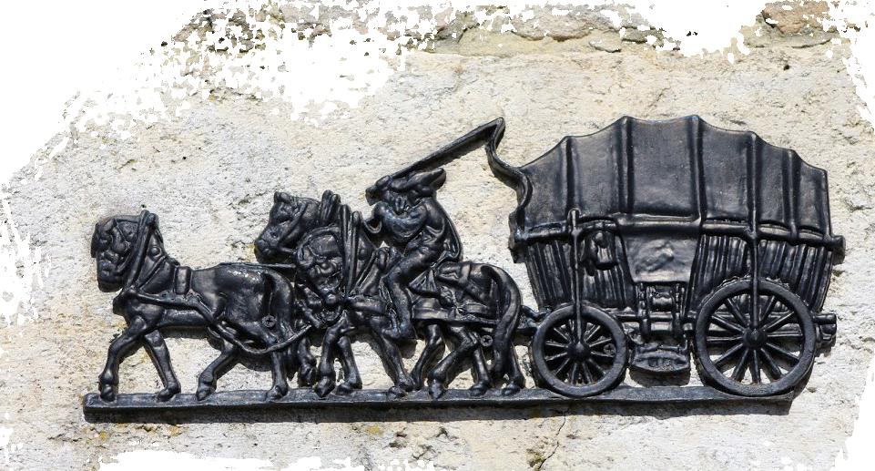 sculpture relais de la poste aux chevaux
