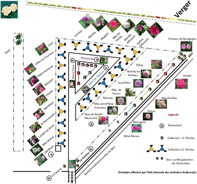 Plan d'implantation de la Roseraie du relais de poste, launois sur vence